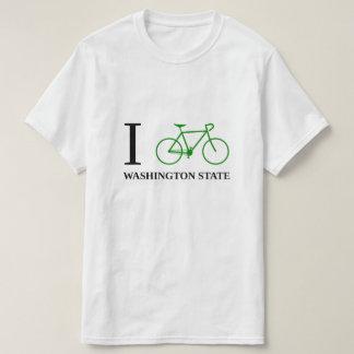 T-shirt Je fais du vélo l'ÉTAT DE WASHINGTON (l'icône