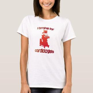 T-shirt Je freine pour des cardiologues rouges