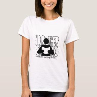T-shirt Je lirais plutôt - anti-owling