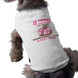 T-shirt Je marche 1 cancer du sein