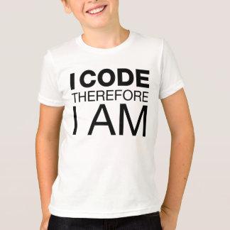 T-shirt Je me code par conséquent suis