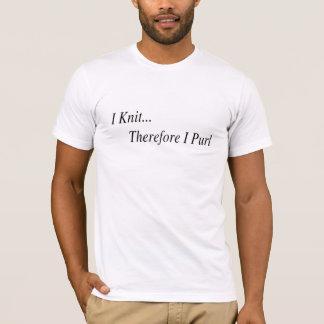 T-shirt Je me tricote donc chemise de maille