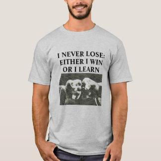 T-shirt Je ne perds jamais la chemise d'arts martiaux