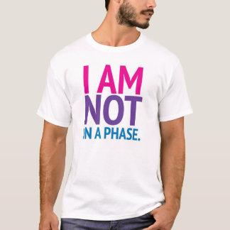 T-shirt Je ne suis pas dans une chemise colorée par phase
