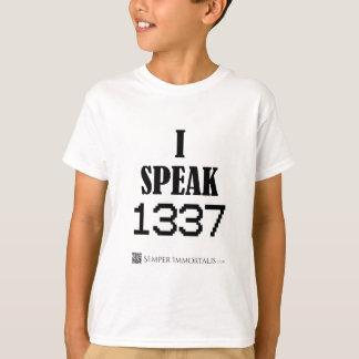 T-shirt Je parle 1337