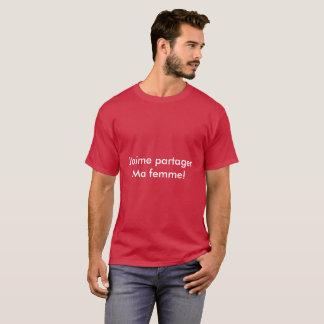 T-shirt Je partage me femme