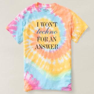T-shirt Je pas techno pour une réponse