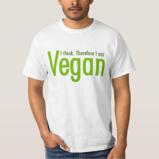 T-shirt Je pense.  Par conséquent je suis végétalien