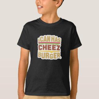 T-shirt Je peux a Cheezburger (l'ombre)