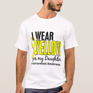 T-shirt Je porte le jaune pour ma endométriose de la fille