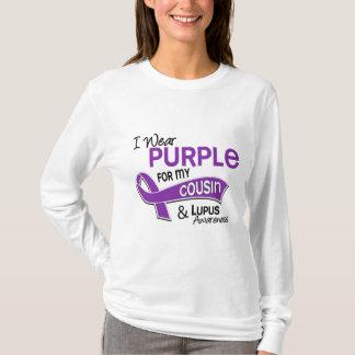 T-shirt Je porte le pourpre pour mon lupus du cousin 42