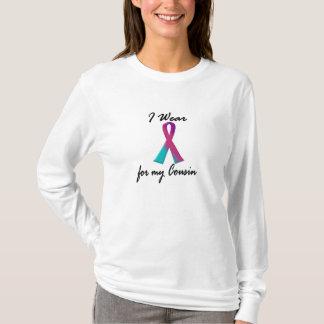 T-shirt Je porte le ruban thyroïde pour mon cousin 1