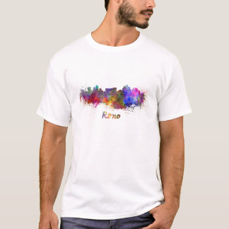 T-shirt Je querelle skyline in watercolor