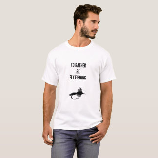 T-shirt Je serais plutôt pêche de mouche