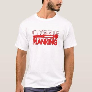 T-shirt Je serais plutôt Planking - silhouette rouge