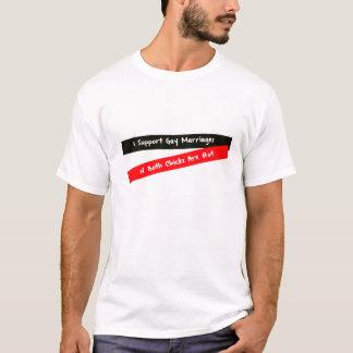 T-shirt Je soutiens la pièce en t de mariage homosexuel