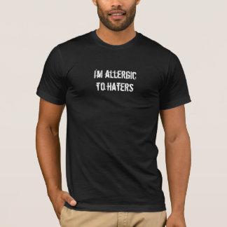 T-shirt Je suis allergique aux haineux - prenez garde