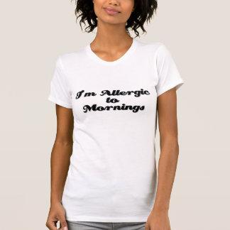 T-shirt Je suis allergique aux matins