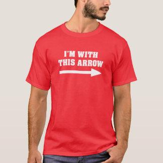 T-shirt Je suis avec cette flèche