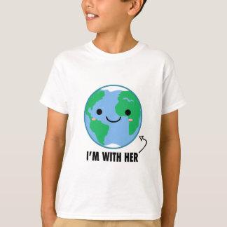 T-shirt Je suis avec elle - jour de la terre de planète