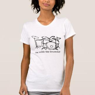 T-shirt Je suis avec le batteur