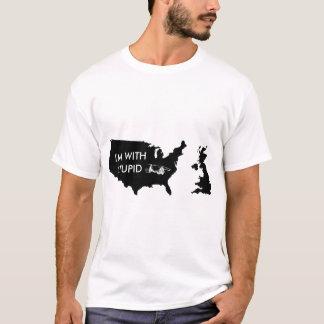 T-shirt Je suis avec stupide - les Etats-Unis adhèrent au