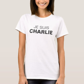 T-SHIRT JE SUIS CHARLIE (WHITE/WOMEN)