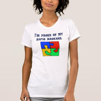 T-shirt Je suis fier de mon frère d'Aspie