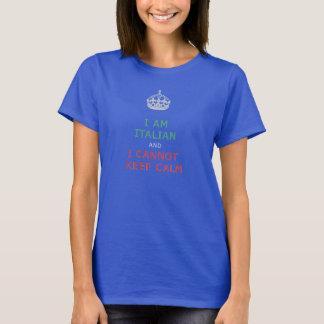 T-shirt je suis italien et je ne peux pas garder le calme