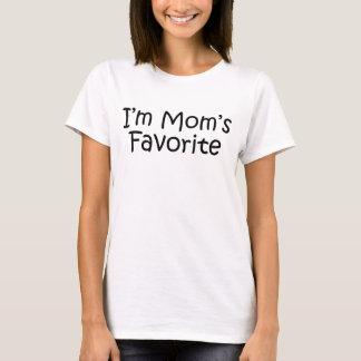T-shirt je suis le favori de la maman