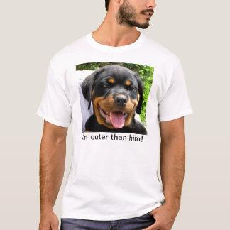 T-shirt Je suis plus mignon que lui ! - Chiot de