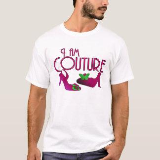 T-shirt Je suis rose de couture