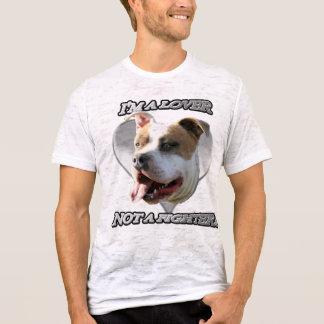 T-shirt Je suis un amant pas une chemise de pitbull de