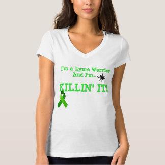 T-shirt Je suis un guerrier de Lyme et je suis Killin IL