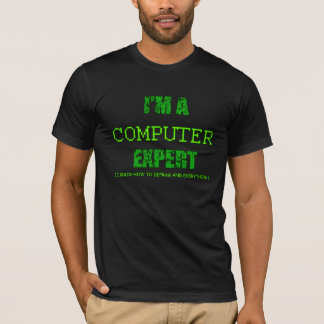 T-shirt Je suis un informaticien