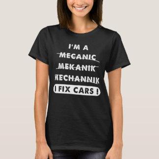T-shirt Je suis un mécanicien que je fixe des voitures