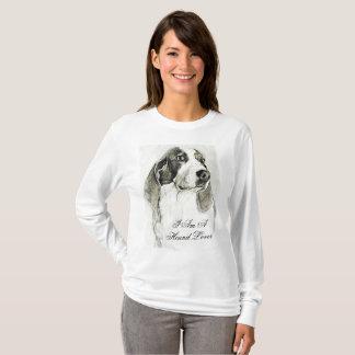 T-shirt Je suis une chemise d'amant de chien