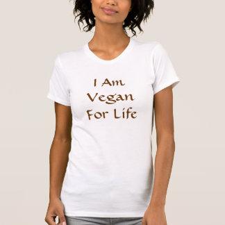 T-shirt Je suis végétalien pendant la vie. Brown