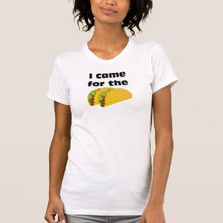 T-shirt Je suis venu pour la pièce en t de tacos (CrewNeck