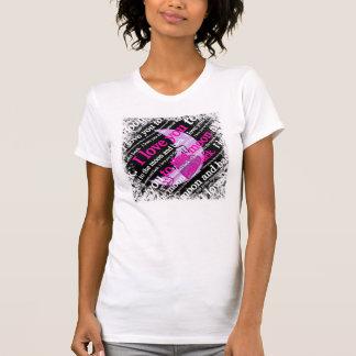 T-shirt Je t'aime à la lune et à la typographie arrière