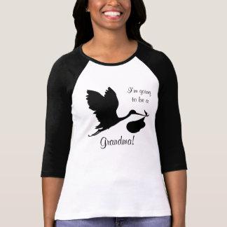 T-shirt Je vais être une cigogne noire de grand-maman