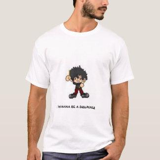 T-shirt Je veux être un batteur