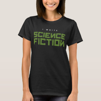 T-shirt J'écris la science-fiction