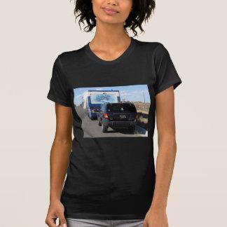 T-shirt Jeep bleue du classique rv Motorhome du voyage