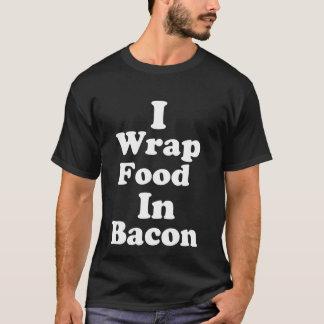 T-shirt J'enveloppe la nourriture dans la chemise foncée
