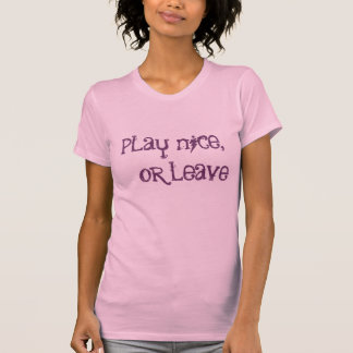 T-shirt jeu gentil,    ou congé