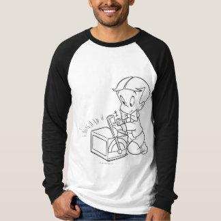 T-shirt Jeu riche de Richie avec le jouet - B&W