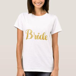 T-shirt Jeune mariée d'or