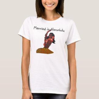T-shirt Jeune mariée Honolulu l'épousant hawaïen