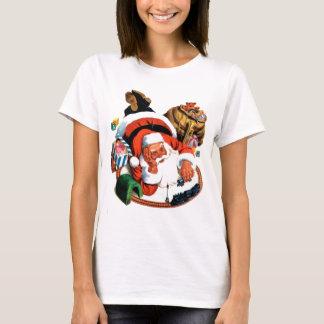 T-shirt Jeux du père noël avec un train de jouet
